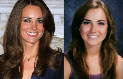 Prinz William Hintergrund with a portrait entitled kate middleton look alike