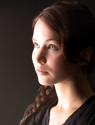Katniss Everdeen achtergrond containing a portrait entitled katniss