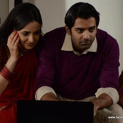 Iss Pyar Ko Kya Naam Doon wallpaper probably with a laptop and a portrait called kushi & arnav