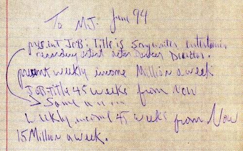 mj handwriting