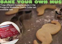 mustache biscuits, cookies