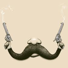mustache बंदूकों