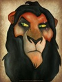 my scar drawing - the-lion-king fan art