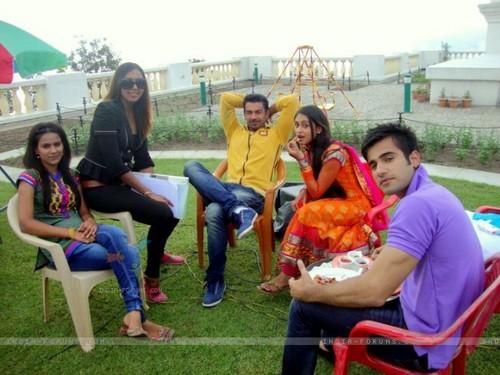 on sets
