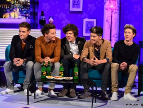 one direction,Alan Carr Chatty Man 显示 2012