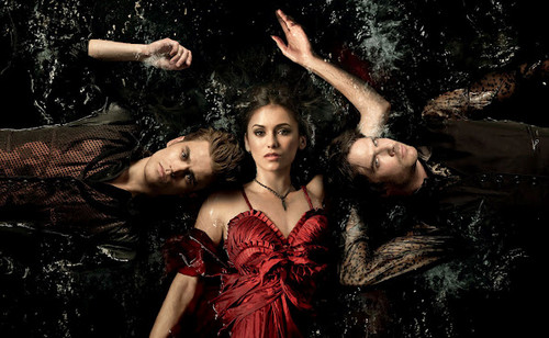 The Vampire Diaries wallpaper containing a dinner dress entitled trio amoroso forever