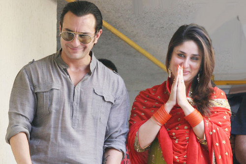 [EXCLUSIVE] - Saif Ali Khan & Kareena's Wedding Party [16-10-2012]
