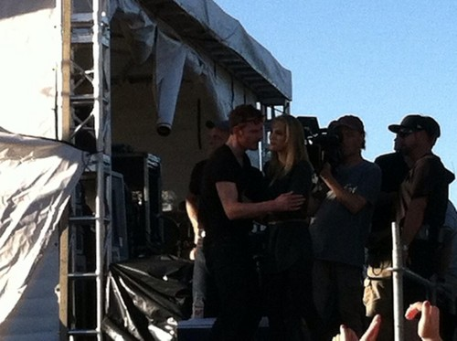 Filming with Boyd Holbrook at a church and with Michael Fassbender at ACL संगीत Festival in Austin,