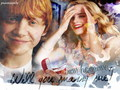 Hermione and Ron  - hermione-and-ron wallpaper