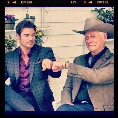 ♥ Josh Henderson and Larry Hagman ♥