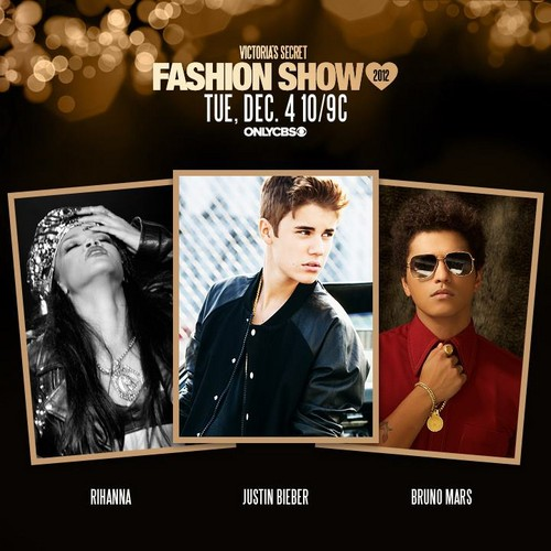 Justin Bieber, Rihanna and Bruno Mars to perform this jaar at the Victoria's Secret Fashion toon
