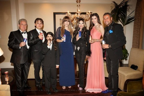 ?, Prince Jackson, Blanket Jackson, Paris Jackson, Latoya Jackson, ? and ? at Mr roze Drink Party