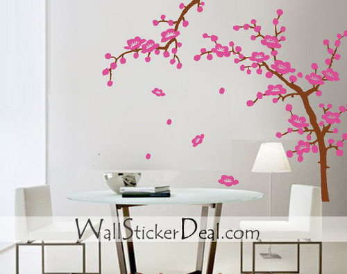 2 Sets Cherry Blossom Branches Wall Stickers