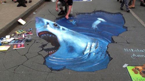 3D pavement art