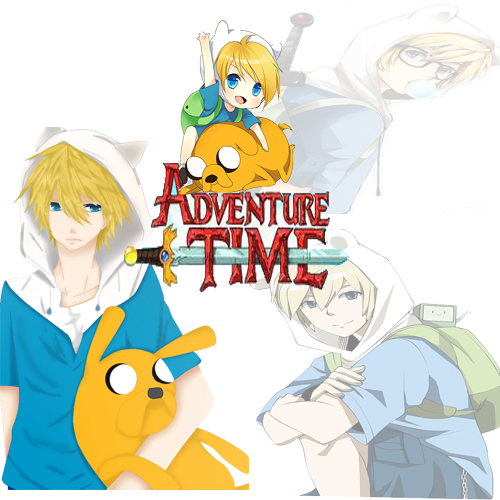 Adventure Time Anime Finn, Jake And Bemmo