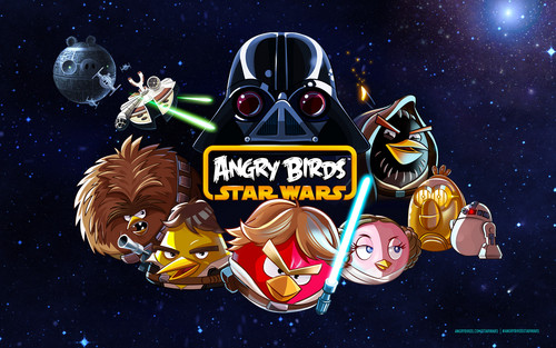 angry birds wallpaper entitled Angry Birds estrela Wars wallpaper