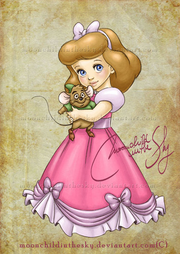 Cinderella wallpaper possibly containing anime titled Baby Cinderella