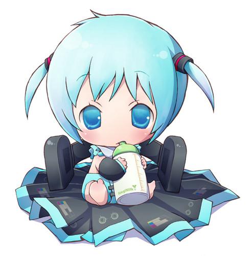 Vocaloid Обои called Baby Miku