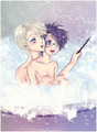 Bath time - harry-and-draco fan art