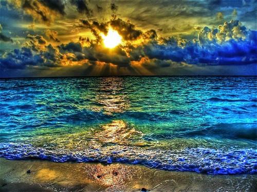 sunset shadows