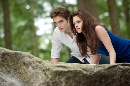 Bella and Edward on their hunt.
