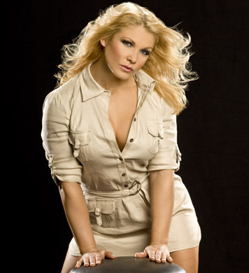 beth phoenix karatasi la kupamba ukuta possibly with a well dressed person entitled Beth Phoenix Photoshoot Flashback