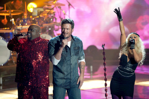 Blake , cee lo and Christina