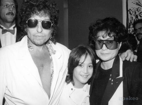 Bob Dylan, Sean, and Yoko