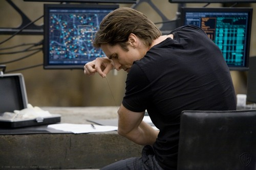 Bruce Wayne wallpaper containing a laptop and a sign entitled Bruce Wayne
