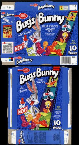 Bugs Bunny frutas snacks