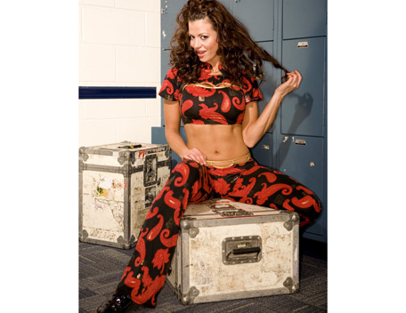 Candice Michelle 壁纸 probably containing a packing box titled Candice Michelle Photoshoot Flashback