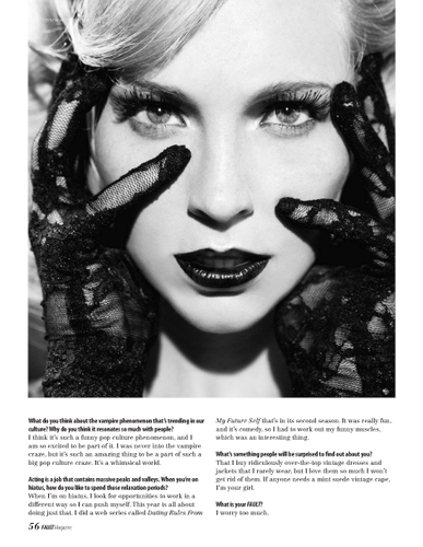 "Candice in ""Fault"" magazine - {The Fantasy: Dreams & Nightmares Issue 