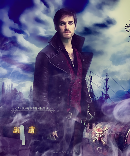C'era una volta wallpaper possibly containing a well dressed person and an outerwear called Captain Hook