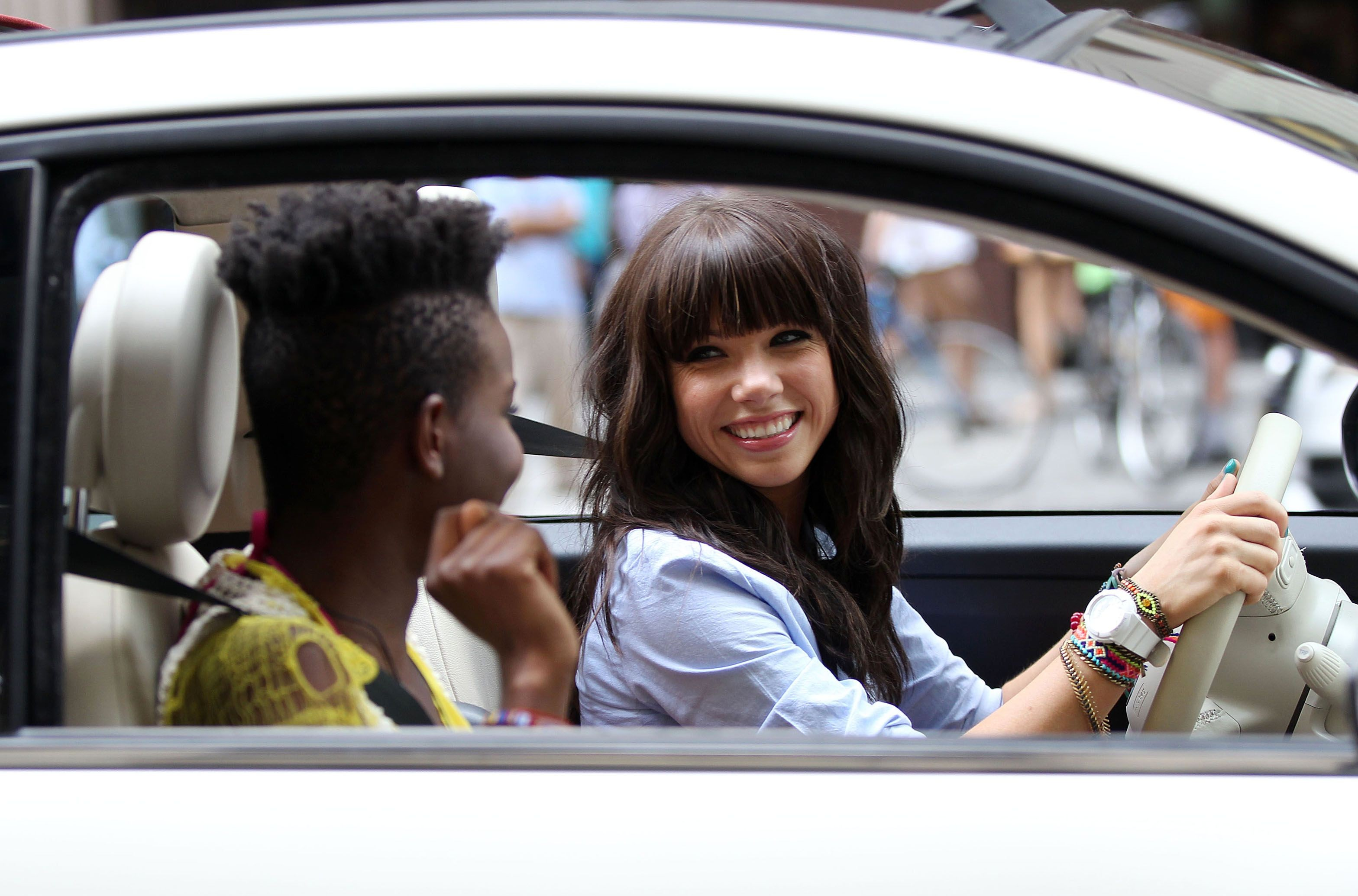 Carly rae jepsen موسیقی Video Shoot in New York