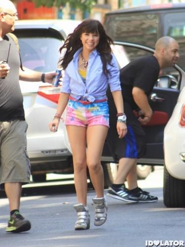 Carly rae jepsen 음악 Video Shoot in New York