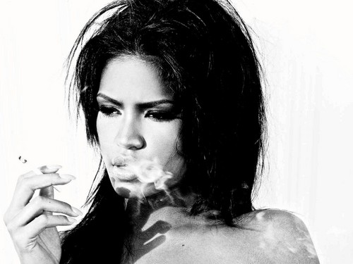 Cassie smoking
