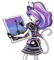 Monster High karatasi la kupamba ukuta containing anime entitled Catrine DeMew official art (?)