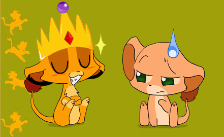 Chibi Simba and Nala