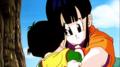 Chichi hugs little Gohan.