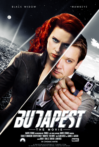 Hawkeye & Black Widow karatasi la kupamba ukuta containing anime called Clint & Natasha