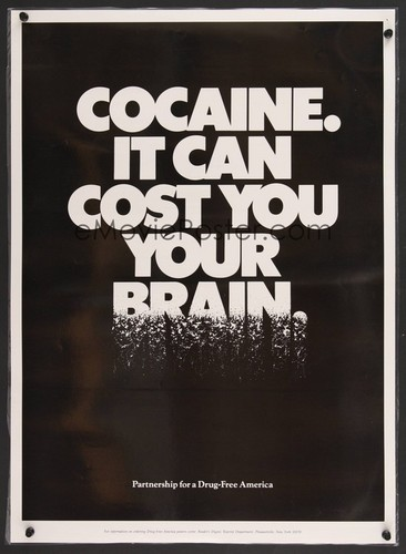 Cocaine It can cost tu your brain ad, 1989