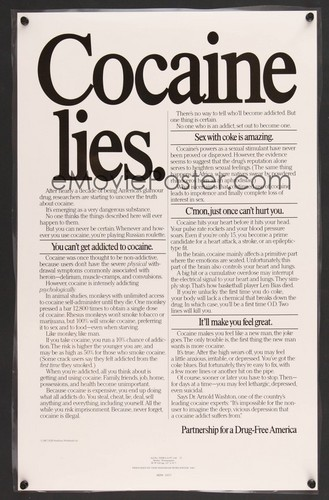 Cocaine Lies poster, 1989