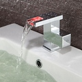 Contemporary Color Changing LED Bathroom Sink Faucet
