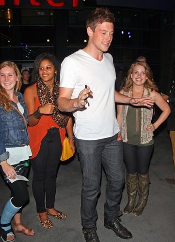 Cory Leaving The Black Keys concert At Staples Center - October 6, 2012