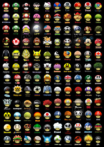 super mario bros wallpaper called Different kinds of mushrooms
