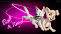 Disney Angel and Bolt cute love پیپر وال HD