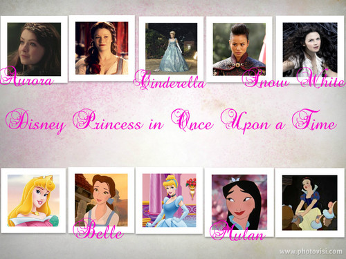 Once Upon a Time - Es war einmal... Hintergrund called Disney Princesses in Once Upon a Time