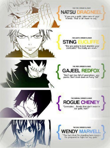 Fairy Tail karatasi la kupamba ukuta called Dragon Slayers