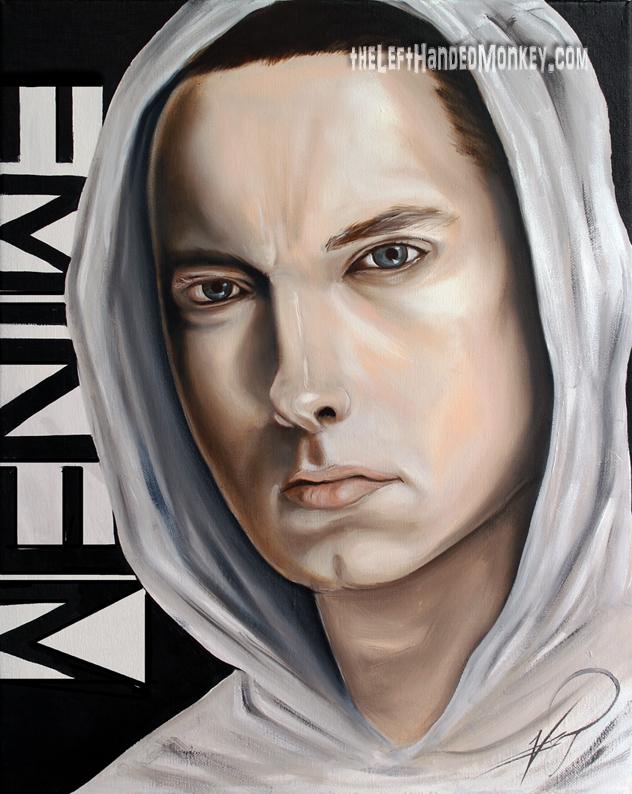 Eminem Oil Painting 18x24 - EMINEM Fan Art (32491030) - Fanpop