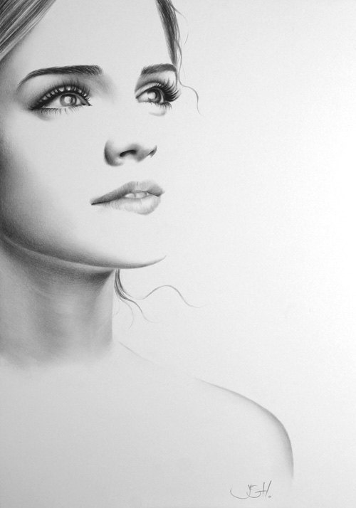 Emma Watson artwork door Ileana Hunter